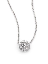 Kwiat Sunburst Diamond And 18K White Gold Pendant Necklace White Diamond