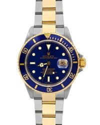 Rolex Pre Owned Men's 18K Submariner Watch Two