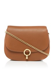 Dickins And Jones Harri Twist Lock Crossbody Bag Tan