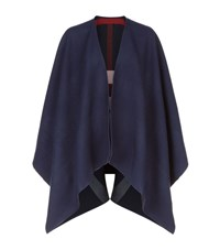 Burberry Shoes And Accessories Reversible House Check Cape Female Navy