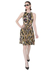 Isaac Mizrahi Jewel Printed Dress Black