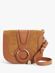 See By Chloe Small Hana Suede Leather Satchel Bag Caramello