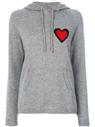 Chinti And Parker Cashmere Heart Burst Hoodie Women Cashmere Xs Grey