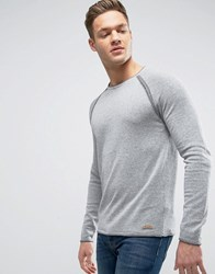 Esprit Knitted Jumper With Exposed Raglan Sleeve Grey