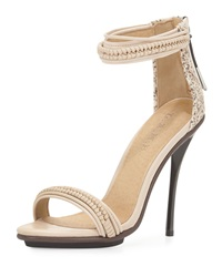 L.A.M.B. Mixed Media High Heel Sandal Vanilla