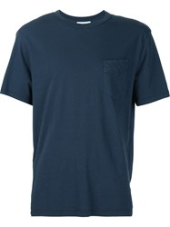 Officine Generale Chest Pocket T Shirt Blue