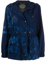 Mr And Mrs Italy Paint Effect Jacket Blue