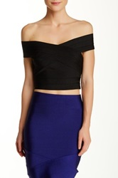 Wow Couture Bandage Crop Tank Black