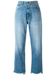Golden Goose Deluxe Brand Stonewashed Cropped Jeans Women Cotton 27 Blue