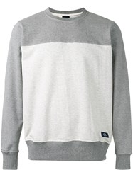 Bleu De Paname Tonal Slim Fit Sweatshirt Men Cotton S Grey