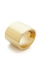 Kenneth Jay Lane Thick Cuff Bracelet Gold
