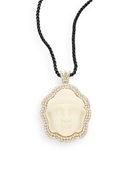 Natasha Buddha Pendant Necklace White
