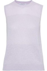 Agnona Woman Metallic Cashmere Blend Top Lilac