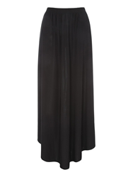 Jane Norman Scoop Hem Maxi Skirt Black