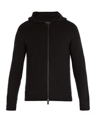 Iris Von Arnim Lyonel Zip Through Hooded Cashmere Sweater Black