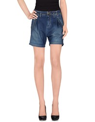 Heavy Project Denim Denim Bermudas Women Blue