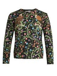 Gucci Birds Print Cotton Sweatshirt Black Multi