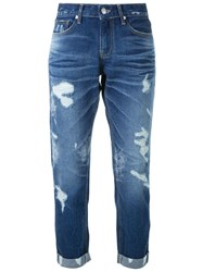 Guild Prime Ripped Cropped Jeans Blue