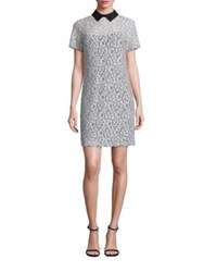 Michael Michael Kors Collared Lace T Shirt Dress Ecru Black