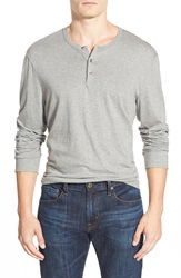 James Perse 'Suvin Jersey' Long Sleeve Henley Heather Grey
