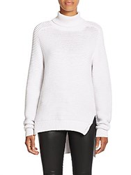 Nicholas N Ribbed Cotton Turtleneck Sweater White