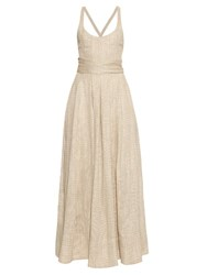 Brock Collection Daph Linen Bend Dress White