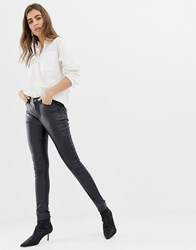 B.Young Super Shiney Coated Jeans Black