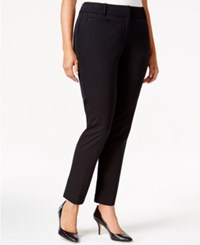 Styleandco. Style And Co. Plus Size Straight Leg Dress Pants Only At Macy's Deep Black
