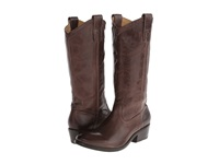 Frye Carson Pull On Smoke Washed Antique Cowboy Boots Brown