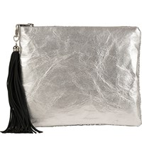 Lisa Bea Sparkle Metallic Small Leather Pouch