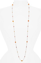 Dabby Reid 'Lyla' Swarovski Crystal Mix Necklace Orange Pink