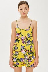 Topshop Yellow Floral Camisole Top