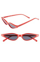 Sam Edelman Circus By 54Mm Small Funky Cat Eye Sunglasses Red
