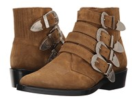 Toga Virilis Suede Western Buckle Boot Beige Men's Dress Pull On Boots