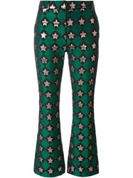 Au Jour Le Jour Star Pattern Flared Trousers