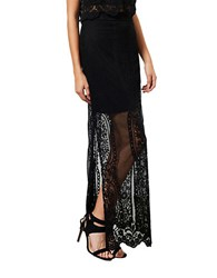 Miss Selfridge Scalloped Lace Maxi Skirt