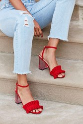 Urban Outfitters Rachel Lucite Heel Red