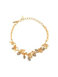 Oscar De La Renta Berry Necklace Gold