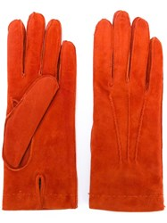 Joseph Hand Stitched Gloves Yellow Orange