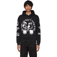 Mcq By Alexander Mcqueen Black Psycho Billy Big Hoodie