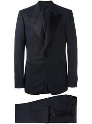 Tom Ford Two Piece Suit Men Silk Cupro Wool 54 Blue