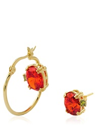 Iosselliani All That Jewelry Hoop And Stud Earrings Gold Red