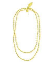 Eileen Fisher Bindu Silk Multi Strand Necklace Yarrow
