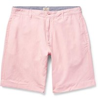 Faherty Linen And Cotton Blend Shorts Pastel Pink