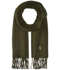 Polo Ralph Lauren Signature Wool Scarf Dark Loden Scarves Olive