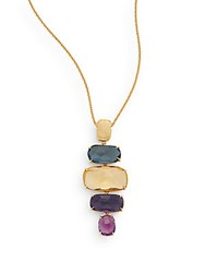 Marco Bicego Murano Semi Precious Multi Stone And 18K Yellow Gold Pendant Necklace Gold Multi