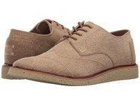 Toms Brogue Lace Up Desert Taupe Coated Twill Men's Shoes Brown