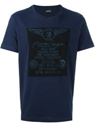 Diesel 'Joe' T Shirt Blue