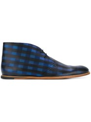 Opening Ceremony Plaid 'M1' Desert Boots Blue
