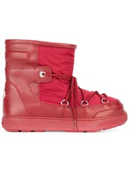 Moncler 'New Fanny' Moon Boots Red